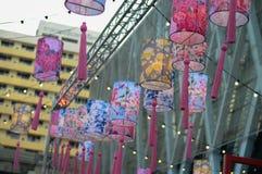 Chinese lantaarnbloemen Stock Foto's