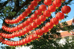 Chinese lantaarns, Bangkok, Thailand. Stock Afbeeldingen