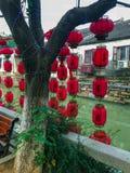 Chinese lantaarns, Chinees Nieuwjaar, Suzhou, China royalty-vrije stock afbeeldingen
