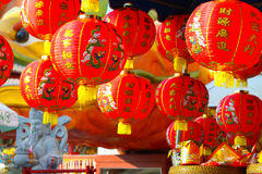 Chinese lantaarns in Chinese nieuwe jarendag Royalty-vrije Stock Foto