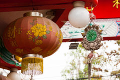 Chinese lantaarns in Chinese nieuwe jarendag Royalty-vrije Stock Afbeelding