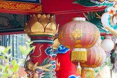 Chinese lantaarns in Chinese nieuwe jarendag Royalty-vrije Stock Fotografie