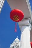 Chinese Lantaarns en Kolom Stock Afbeelding