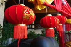 Chinese lantaarns tijdens nieuw jaarfestival Stock Foto's