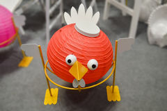 Chinese lantaarns, vogelmodel Stock Foto