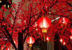 Chinese lantern. Red chinese lanterns for decoration Royalty Free Stock Photos