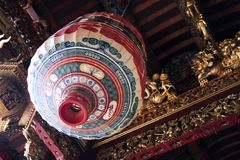 Chinese Lantern. In a temple Stock Photo