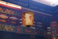 Chinese Lantern. In Chinese temple Stock Image