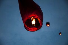 Chinese lantern. In the sky Stock Photo