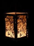 Chinese lantern. On black background Stock Photos