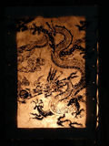 Chinese lantern. On black background Royalty Free Stock Images