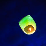 Chinese lantern afloat in the sky Stock Photography