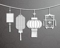 Chinese Lantern. Background design element Stock Image