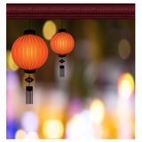Chinese Lantern Background - Illustration Royalty Free Stock Photo