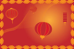 Chinese lantern background - vector Stock Photo
