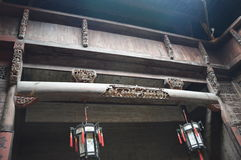 Chinese Lantern Beams Stock Photo