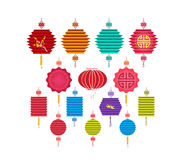 Chinese Lantern Collection. Chinese new year and mid autumn festival Stock Photo