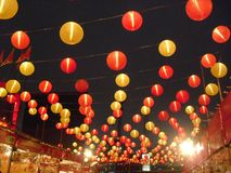 Chinese Lantern decoration in West Kowloon, Hong Kong royalty free stock images