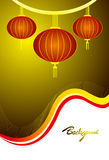 Chinese lantern design Stock Images