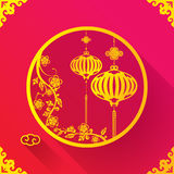 Chinese Lantern design template Royalty Free Stock Photography