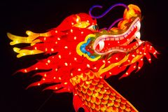 Chinese Lantern Festival Chinese New Year New Year. ALBUQUERQUE, NEW MEXICO, USA- NOVEMBER 12,2017: Chinese Lantern Festival lit up at night to celebrate the Royalty Free Stock Images