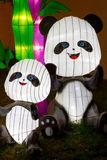 Chinese Lantern Festival  New Year Panda Bear. ALBUQUERQUE, NEW MEXICO, USA- NOVEMBER 12,2017: Chinese Lantern Festival lit up at night to celebrate the Chinese Royalty Free Stock Photography