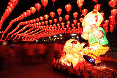 Chinese lantern festival. In Chinese temple Royalty Free Stock Photography