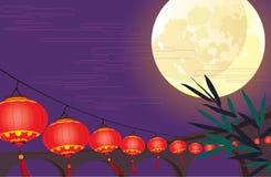 Chinese lantern festival vector design. Full moon and Chinese lantern festival vector design Royalty Free Stock Photography