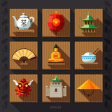 Chinese lantern flat icon vector Stock Image