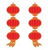 Chinese lantern garland Stock Images