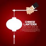 Chinese Lantern. Hand Holding Chinese Lantern Vector Illustration Stock Images