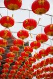 Chinese lantern hanging tunnel Stock Image