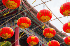 Chinese lantern hanging tunnel Stock Images