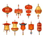 Free Chinese Lantern Lamps, China New Year Decoration Royalty Free Stock Photos - 193269558