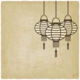 Chinese lantern old background Stock Image