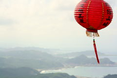 Chinese Lantern Overlooking Bay Royalty Free Stock Photography