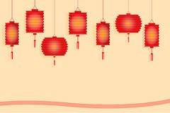 Chinese lantern paper style design for mid autumn festival. Vector Stock Image