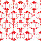 Chinese lantern seamless Royalty Free Stock Images