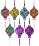 Chinese lantern set. Vector Chinese lantern set lantern set Royalty Free Stock Images