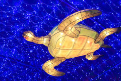 Chinese  lantern shape of sea turtle Stock Photography