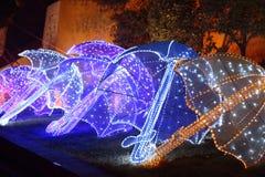Chinese lantern show Stock Photo