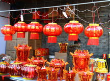 Chinese lantern. A Chinese lantern stall at culture street Tianjin China photoed on january 16th 2014 Stock Photos