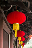 Chinese lantern. In the temple Royalty Free Stock Photo