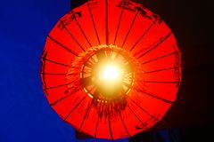 Chinese lantern. Chinese think red is a luckier, more joyous color Stock Photo