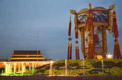 Chinese Lantern Tiananmen Square Beijing Royalty Free Stock Photography