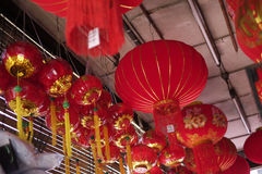 Chinese Lantern in town Stock Images
