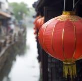 Chinese lantern in Zhouzhuang Stock Photo