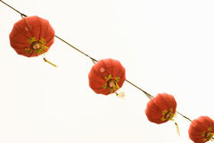 Chinese lanterns. Hanging against a white background Royalty Free Stock Photos