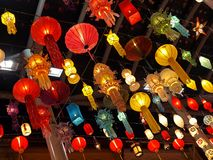 Chinese Lanterns. Colorful and Bright Lanterns of various shapes and size Stock Photography