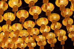 Chinese lanterns. Group of Chinese lanterns on Chinese new years Stock Images